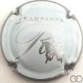 Champagne capsule  Contour argent et blanc