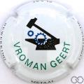 Champagne capsule A1 Vromant Geert, fond blanc, bleu