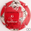 Champagne capsule 4.c Fond rouge, avec strass
