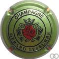 Champagne capsule 12.d Fond vert métallisé