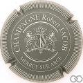 Champagne capsule 7 Gris, striée argent