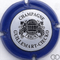 Champagne capsule 3 Contour bleu, centre blanc