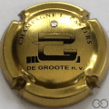 Champagne capsule 18.aa Cuvée De Groote, or avec strass