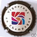 Champagne capsule 4.e 2014, contour marron
