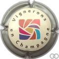 Champagne capsule 12 Contour gris métallisé