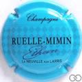 Champagne capsule 4.c Bleu ciel et noir, Ethan en relief