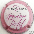 Champagne capsule 4.g Blanc, contour rose