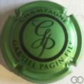 Champagne capsule 29.j Vert pâle métallisé et noir
