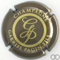 Champagne capsule 29.h Marron et or