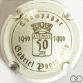 Champagne capsule 3 Blanc et or (50 ans)