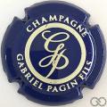 Champagne capsule 29.b Bleu et crème