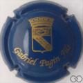 Champagne capsule 25 Bleu foncé et or