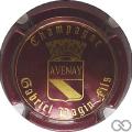 Champagne capsule 21 Bordeaux foncé