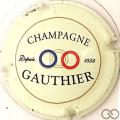 Champagne capsule 2 Crème, lettres épaisses