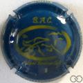 Champagne capsule 9.q Bleu et jaune