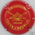 Champagne capsule 6 Rouge et or, grandes lettres, verso or