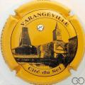 Champagne capsule 8 Fond jaune, avec strass