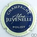 Champagne capsule 2 Bleu foncé, contour crème