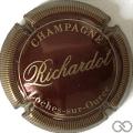 Champagne capsule 7 Bordeaux foncé et or, striée