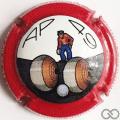 Champagne capsule 7 AP49, contour rouge