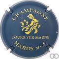 Champagne capsule 1.a Bleu foncé et or