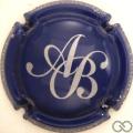 Champagne capsule 8 Bleu foncé et argent