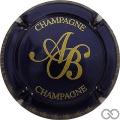 Champagne capsule 18.e Bleu métallisé et or