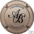 Champagne capsule 18.c Grège et noir