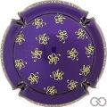 Champagne capsule 17.h Violet métallisé et or