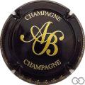 Champagne capsule 18.b Noir et or
