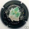 Champagne capsule 13 Noir mat, feuille verte