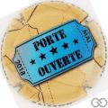 Champagne capsule 45.c Porte Ouverte 2018