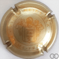 Champagne capsule 108 Or et or pâle