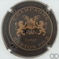Champagne capsule 12.d Noir et or pâle (bleu-nuit)
