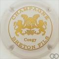 Champagne capsule 12.l Blanc cassé et or