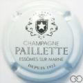 Champagne capsule 9.c Blanc et noir, écriture fine