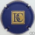 Champagne capsule 1.c Bleu et or
