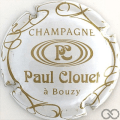 Champagne capsule 6 Blanc et or