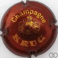 Champagne capsule 36.a Bordeaux et or, 32 mm