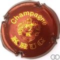 Champagne capsule 35 Marron et or