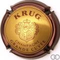 Champagne capsule 49.a Grande cuvée, contour marron, 32 mm
