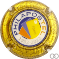 Champagne capsule A1.a Philapostel 70 ans, contour or