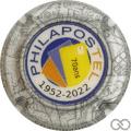 Champagne capsule A1 Philapostel 70 ans, contour argent