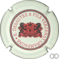 Champagne capsule 7.b Blanc, lettres rouges