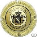 Champagne capsule 12 Contour paille, striée
