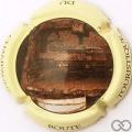 Champagne capsule 28 Bar sur Aube, contour crème