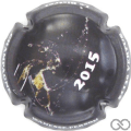 Champagne capsule 4 Contour (noir) gris