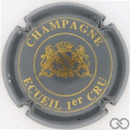 Champagne capsule 7 Gris et or