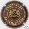 Champagne capsule 6 Marron et or