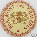Champagne capsule 1 Crème, bordeaux et or, striée